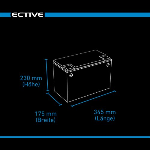 ECTIVE DC 120 AGM Deep Cycle 120Ah Versorgungsbatterien