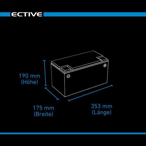 ECTIVE DC 95 Gel Deep Cycle 95Ah Versorgungsbatterie