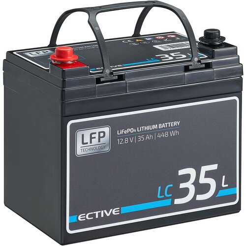 ECTIVE LC 35L 12V LiFePO4 Lithium Versorgungsbatterie 35 Ah