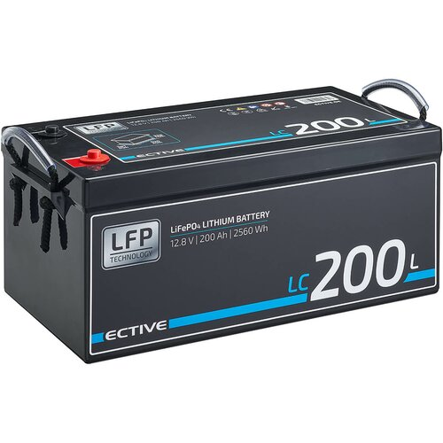 ECTIVE LC 200L 12V LiFePO4 Lithium Versorgungsbatterie 200 Ah
