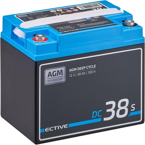ECTIVE DC 38S AGM Deep Cycle mit LCD-Anzeige 38Ah...