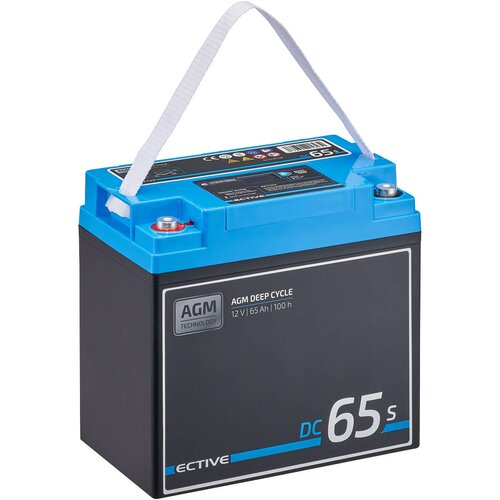 ECTIVE DC 65S AGM Deep Cycle mit LCD-Anzeige 65Ah Versorgungsbatterie