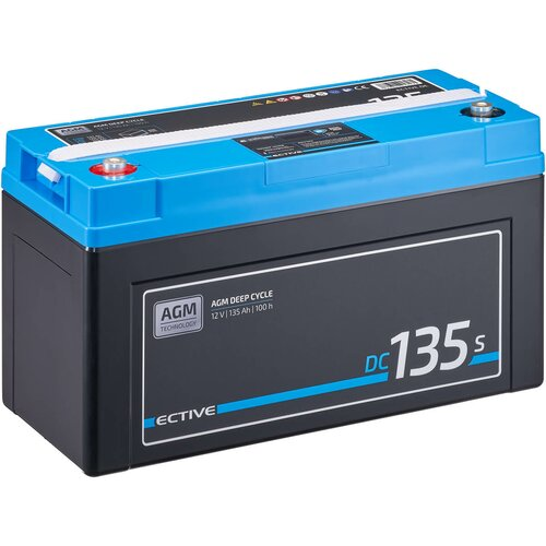 ECTIVE DC 135S AGM Deep Cycle mit LCD-Anzeige135Ah...