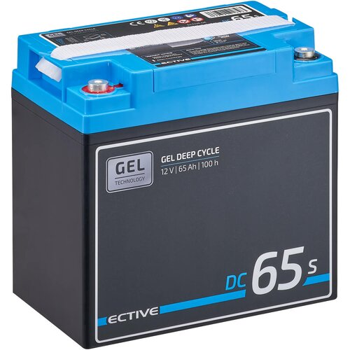 ECTIVE DC 65S GEL Deep Cycle mit LCD-Anzeige 65Ah...