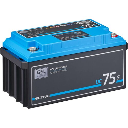 ECTIVE DC 75S GEL Deep Cycle mit LCD-Anzeige 75Ah...