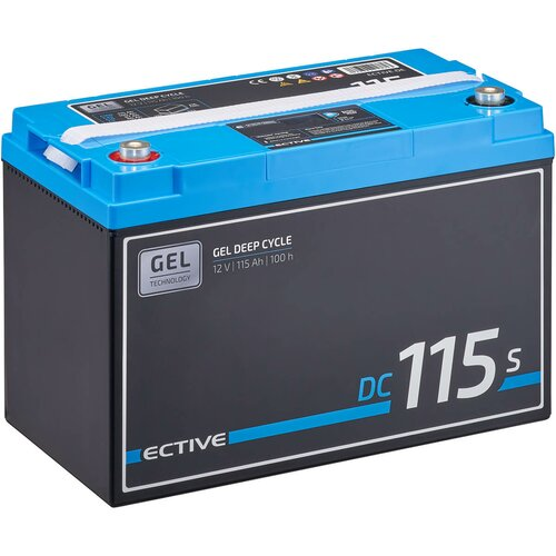 ECTIVE DC 115S GEL Deep Cycle mit LCD-Anzeige 115Ah...