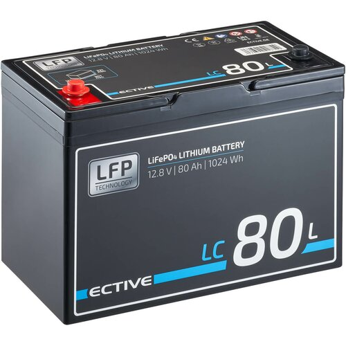 ECTIVE LC 80L 12V LiFePO4 Lithium Versorgungsbatterie 80 Ah